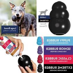 KONG Extreme Dog Toy Black Large Breed Stimulation Fetch Fil