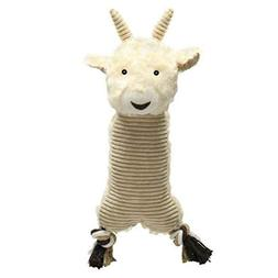 Farm Folks Dog Toy Soft Corduroy Squeak Toys - Cow Rabbit Sh