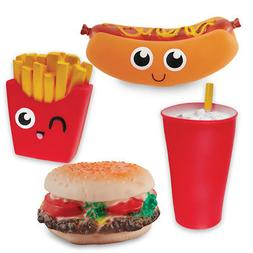 Fast Food Squeaky Dog Toys Set Of 4, by Collections Etc