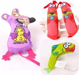 Fat Cat Toy Kitty Hoots Catnip Kitten Dog Fish New Mouse Toy