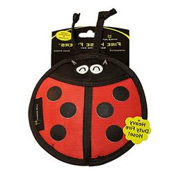 Hyper Pet Firehose Flyers Ladybug Durable Squeaky Dog Toy
