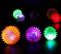 Flashing Light Pet Hedgehog Ball Creative Puppy Toy Dog Supp