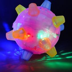 FLASHING Pet Dog Cat Ball For Games Led Pets Play Jumping Jo