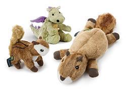 goDog 3 Count Flatz Squirrel Plush Toy, Wildlife Chipmunk Pl