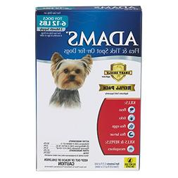 Adams Flea and Tick Spot On for Dogs, Toy Dogs 6-12 Pounds,