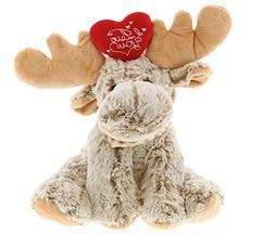 DolliBu Floppy Moose I Love You Valentines Stuffed Animal -