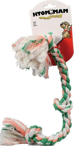 Flossy Chews Color 3 Knot Rope Tug Dog Toy Mammoth Pet Products Part 20068F Mul