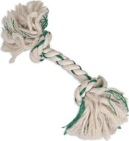 Booda Fresh N Floss 2 Knot Bone Rope Dog Toy, Large, Spearmi