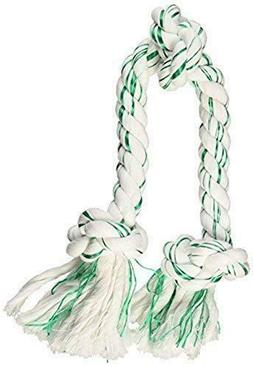 Booda Fresh N Floss 3 Knot Tug Rope Dog Toy, Large, Spearmin