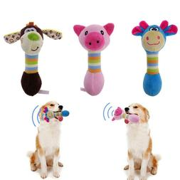 Funny Animal Shape Pet Puppy Dog Toys Soft Plush Sound Squea