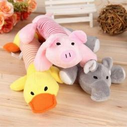 Funny Pet Puppy Chew Toy Squeaker Squeaky Plush Sound Chew C