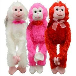 Fuzzy Monkey Plush Animal Multi Pack of 3