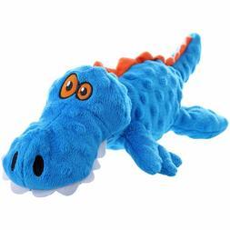 goDog Gators With Chew Guard Technology Tough Plush Dog Toy,