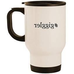 #giggler - Stainless Steel 14oz Road Ready Travel Mug, White