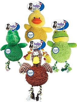 Gigglers Chicken Dog Toy Assorted Size:2 Assorted Animals