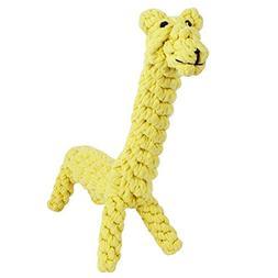 GOCooper Giraffe Puppy Chew Dog Toys Cotton Dental Teaser Ro