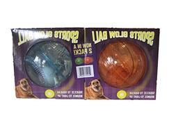 Multipet 2 Pack Sports Glow Ball for Dogs