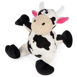 Go Dog Checkers Cow Small Plush Dog Toy ChewGuard GoDog Comf