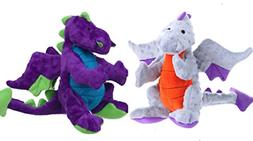 GoDog Dragon with Chew Guard Technology Dog Toy LARGE Set of
