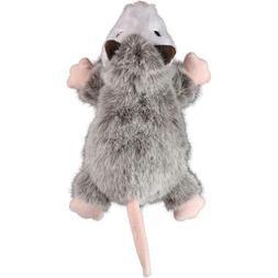 Godog Flatz Opossom Plush Chew Guard Dog Toy With Squeaker