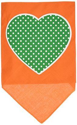 Mirage Pet Products Green Swiss Dot Heart Screen Print Banda