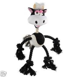 Grriggles Wild 'N Crazy Rope Plush Ball Dog Toy COW
