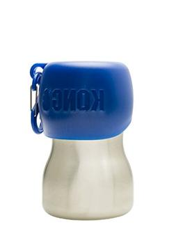 KONG H2O - Stainless Steel Dog Water Bottle - 9.5 oz - Blue