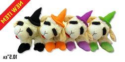 Multipet  Halloween Lamb Chop Witch Dog Toy 10.5""