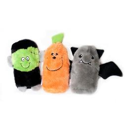 ZippyPaws Halloween 3-Pack Squeakie Buddies - Squeaky No Stu