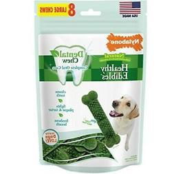Nylabone Healthy Edibles Natural Dog Treats for Dog Dental C