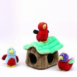 Hide a Bird Fun Hide and Seek Interactive Puzzle Plush Dog T