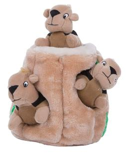 Outward Hound Hide-A-Squirrel Puzzle Plush Squeaking Toys Do