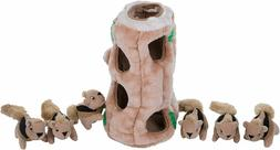 Outward Hound Hide-A-Squirrel Squeaky Puzzle Plush Dog Toy -