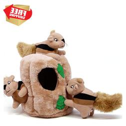 Hide-a-Squirrel Junior Puzzle Plush Hide and Seek Dog Toy -