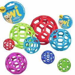 JW Pet Hol-ee Roller Original Treat Dog Ball Toy Natural Rub