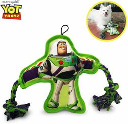 Hyper Pet Disney Buzz Lightyear Flat Squeaker Rope Dog Toy