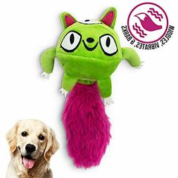 Hyper Pet Doggie Tail Interactive Plush Dog Toys(Wiggles, Vi