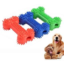 iPetoo Rubber Dog Dental Chew Toy, 3PCS Puppy Chew Toys, Pet
