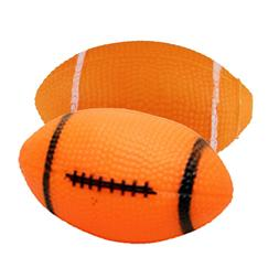 Interactive Dog Toys Rubber Squeaky Balls for Dogs Football&