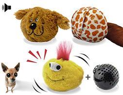 YOGADOG Interactive Plush Squeaky Dog Toys, Crazy Bouncer, E