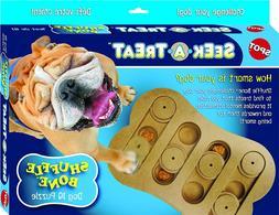 Ethical Pet Interactive Seek-A-Treat Shuffle Bone Dog Toy Pu