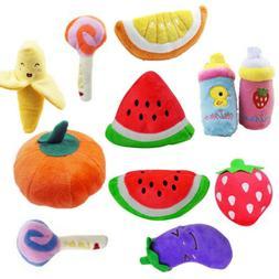 Intonation Dog Toys Fruits Vegetables Pet Chew 1PC New Feedi