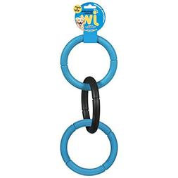 "Invincible Chain Dog Toys Large Durable Rubber 3 Ring 17"" Lo"