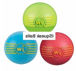 iSqueak Balls Toys for Dogs Fun Rubber Squeaky Durable Bounc