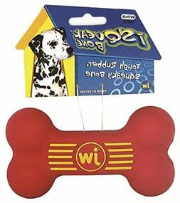 Colors Vary Medium JW Pet Company iSqueak Bone Rubber Dog Toy