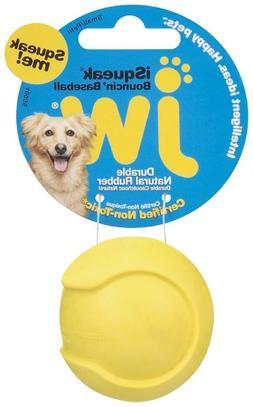 JW Pet Company iSqueak Bouncin' Baseball Dog Toy, Medium