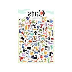 Baidecor Jigsaw Puzzles 500 Pieces 99 Cats and 1 Dog Toys