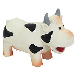 Jolly Doggy Grunters Latex Cow Dog Toy