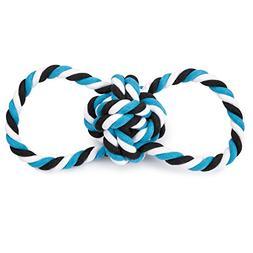 """Grriggles Knot Tug Dog Toys, Blue, 14"""""""