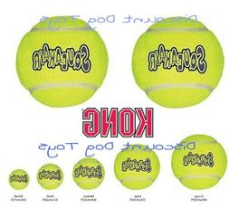 Kong Air Dog Toy Squeaker Tennis Balls xs small medium large